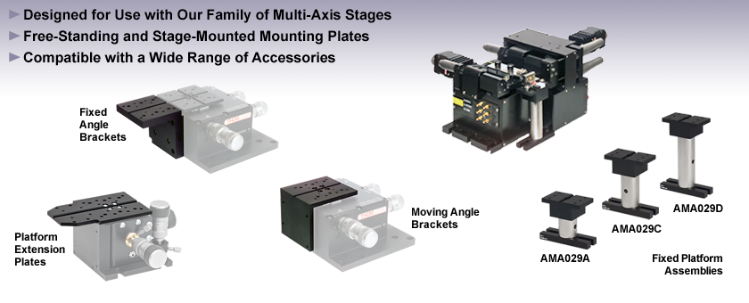 Multi-Axis Flexure Stage Accessories: Platforms
