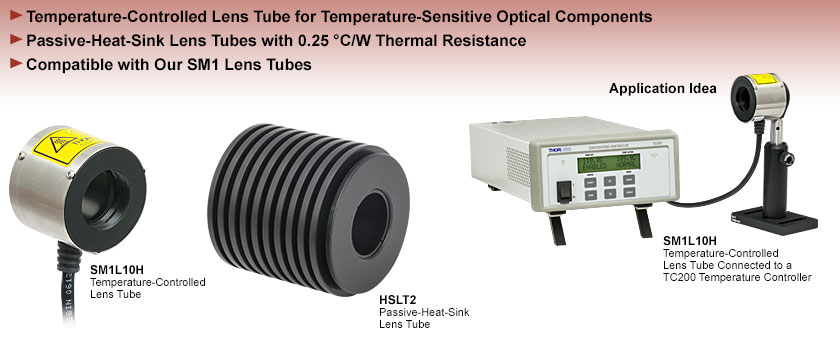 Temperature-Controlled and Heat-Sink Lens Tubes