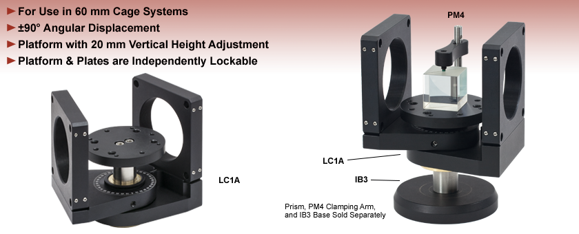 Swivel Mounts/Plates for 60 mm Cage Systems