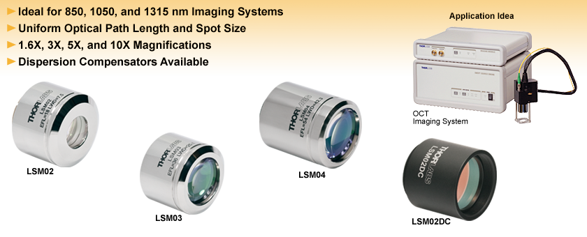 NIR Scan Lenses for OCT System