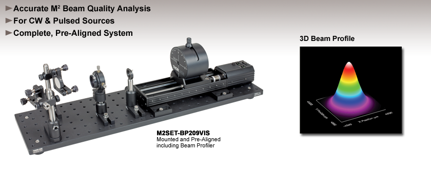 Complete M² Beam Quality Analysis System