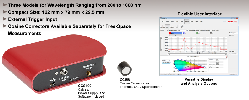 Compact CCD Spectrometers