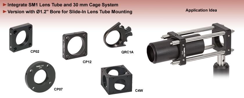 SM1 Lens Tube Compatible Cage Plates