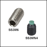 M3 x 0.5 Stainless Steel or Alloy Steel Setscrews