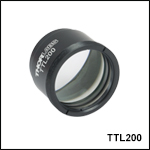 200 mm Focal Length Tube Lenses Optimized for Widefield Imaging