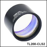 200 mm Focal Length Tube Lenses Optimized for Laser Scanning