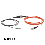 Rotary Joint Patch Cables with Ø400 µm Fiber and Ø1.25 mm Ferrules, Heat-Shrink Tubing