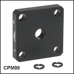 30 mm Cage Plates for Unmounted Optics from Ø5 mm to Ø20 mm