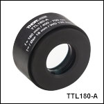f = 180 mm Tube Lens for Widefield Imaging<br>