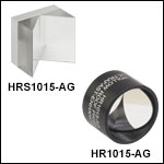 Retroreflecting Hollow Roof Prism Mirror,Ultrafast-Enhanced Silver Coating