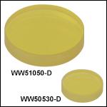 Calcium Fluoride (CaF<sub>2</sub>) Wedged Windows,AR Coating:1.65 - 3.0 µm