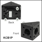 30 mm Cage Right-Angle Kinematic Off-Axis Parabolic Mirror Mount with Smooth Cage Rod Bores