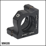 Ø1/2in Mini-Series Kinematic Mirror Mount
