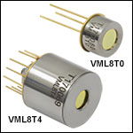 HgCdTe (MCT) Photovoltaic Detectors: 2.0 - 8.0 µm