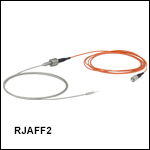 Rotary Joint Patch Cables with Ø200 µm Fiber and Ø2.5 mm Ferrules, Armored