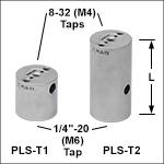 Ø1in (Ø25 mm) Posts for Polaris<sup>®</sup> Mirror Mounts, Three Mounting Taps