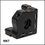 Ø7 mm Mini-Series Kinematic Mirror Mount