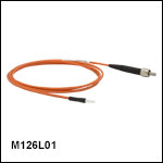Ø400 µm Core, 0.50 NA SMA to Ferrule Patch Cables with Ø2.5 mm Ferrules, PVC Jacket