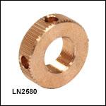 1/4in-80 Bronze Locking Nut