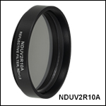 Ø50 mm UV Fused Silica Metallic ND Filters, Mounted