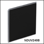 50 mm Square UV Fused Silica Metallic ND Filters, Unmounted