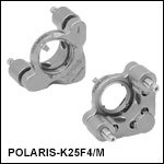 Ø25 mm Polaris Low Distortion Kinematic Mount, 2 Adjusters