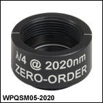 Ø1/2in Zero-Order Quarter-Wave Plates, SM05-Threaded Mounts