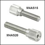 M4 x 0.25Fine Adjusters with Knob
