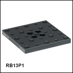 Flexure Stage Accessories: 1/4in-20 & 8-32 (M6 & M4) Adapter Plates