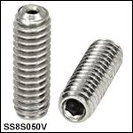 Vented, Vacuum-Compatible8-32 Setscrews
