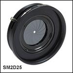 SM2-Threaded, Lever-Actuated Iris Diaphragm
