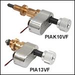 Vacuum-Compatible Piezoelectric Inertia Actuators