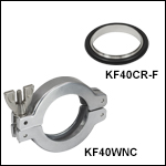 KF40 Flange-Centering O-Ring Carrier and Wing Nut Clamp