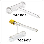 Threaded Ø28 mm Empty Glass Cells, One Fill Tube<br>