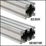 Construction Rails with 50 mm Sides, Raw Extrusion