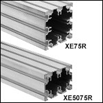 Construction Rails with 75 mm Sides, Raw Extrusion