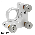 Vacuum-Compatible Ø1in SM-Threaded Kinematic Mirror Mount