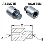 Thread Adapters - Internal Threading with External Threaded Stud