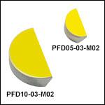 MIR-Enhanced Gold D-Shaped Mirrors (2 - 20 µm)