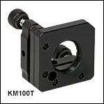 Ø1in Kinematic Mount for Optics up to 0.14in (3.5 mm) Thick