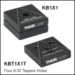 Kinematic Base: 1in x 1in (25 mm x 25 mm)