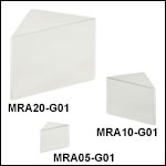 Right-Angle Prism Mirrors, Protected Aluminum Coating (450 nm - 20 µm)