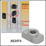 Quick-Release T-Nuts for XE Series Rails