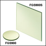 Unmounted Bandpass Colored Glass Filters: 315 - 710 nm