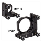 Ø1in and Ø2in Precision Kinematic Mirror Mounts - Differential Adjusters