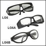Laser Safety Glasses: 93% Visible Light Transmission