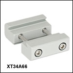 34 mm Rail to 66 mm Rail Double Dovetail Adapter Clamp