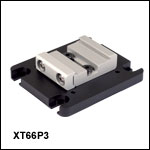 Horizontal Mounting Plate for 66 mm Optical Rails