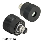 SM1-Threaded Mounted Photodiodes, Cathode Grounded
