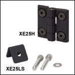 Hinge and Lid Stop for 25 mm Rail Enclosures